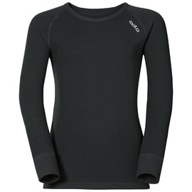 Odlo Shirt l/s crew neck WARM KIDS Schwarz