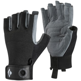 Black Diamond Crag Half Finger Rock Glove Schwarz