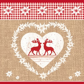 Ambiente Napkin 33 Deer Love Nature Beige
