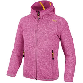 CMP GIRL FLEECE JACKET FIX HOOD Fuchsia
