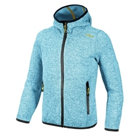 CMP GIRL FLEECE JACKET FIX HOOD Hellblau