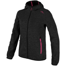 CMP GIRL FLEECE JACKET FIX HOOD Anthrazit