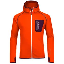 Ortovox Fleece Zip Neck Hoody Men Orange