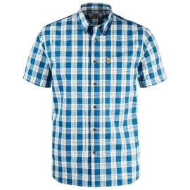 Fjällräven Övik Button Down Shirt SS Blau