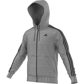 adidas Essentials 3S Hoodie French Terry Hellgrau