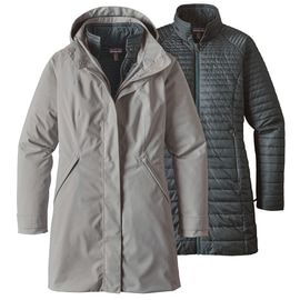 Patagonia W´S Vosque 3 in 1 Parka Hellgrau
