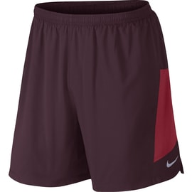 Nike 7 Pursuit 2-IN-1 Short Dunkelrot