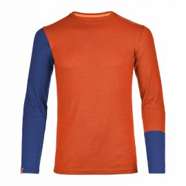 Ortovox 185 Rock 'n' Wool Long Sleeve Men Orange