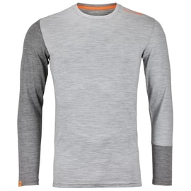 Ortovox 185 Rock 'n' Wool Long Sleeve Men Grau
