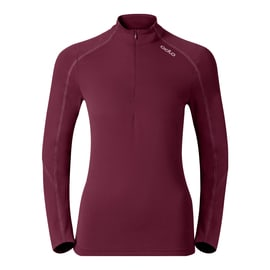 Odlo SILLIAN Stand-up collar l/s 1/2 zip Pink