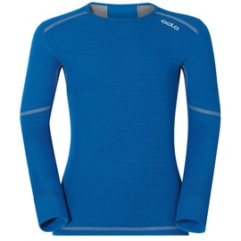 Odlo X-WARM Shirt l/s crew neck Kids Blau