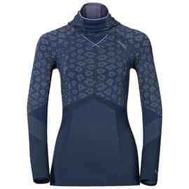 Odlo Blackcomb EVOLUTION WARM Shirt l/s with Facemask W Dunkelblau