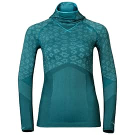 Odlo Blackcomb EVOLUTION WARM Shirt l/s with Facemask W Petrol