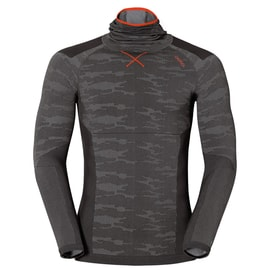 Odlo Blackcomb EVOLUTION WARM Shirt l/s with Facemask M Anthrazit