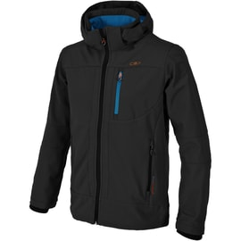CMP MAN SOFTSHELL JACKET ZIP HOOD Grau