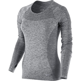 Nike Dri-Fit Knit Long Sleeve Schwarz
