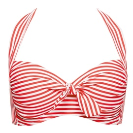 Seafolly Riviera Stripe Soft Cup Halter Rot