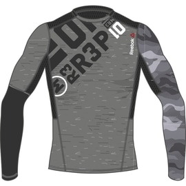 Reebok PW3R LS Compression Top Grau