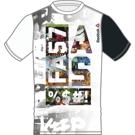 Reebok Fast AS Sublimated SS Top Weiß