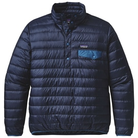 Patagonia M´s Down Snap-T Pullover Dunkelblau