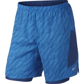 Nike M Nike Flex Short 7in Pursuit Print Hellblau
