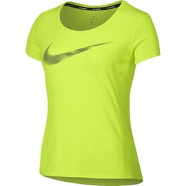 Nike W Nike Dry Contour Top SS GPX Gelb