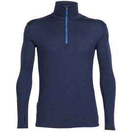 Icebreaker Mens Tech Top LS Half Zip Dunkelblau