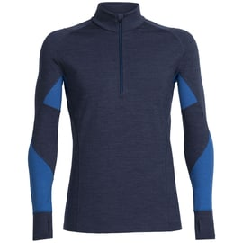 Icebreaker Mens Winter Zone LS Half Zip Dunkelblau