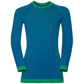 Odlo EVOLUTION WARM Shirt l/s crew neck Kids Blau