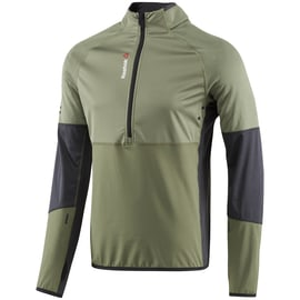 Reebok One Series HEXAWARM Thermal SpeedWick 1/4 Zip Oliv