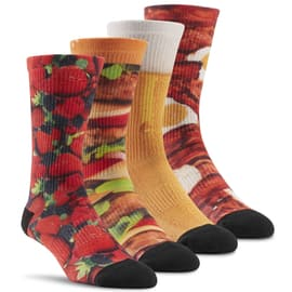 Reebok Pack of 4 different printed graphic socks to Schwarz