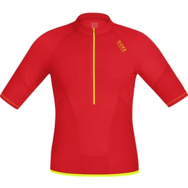 Gore Running Wear Magnitude Comp Zip Shirt Rot