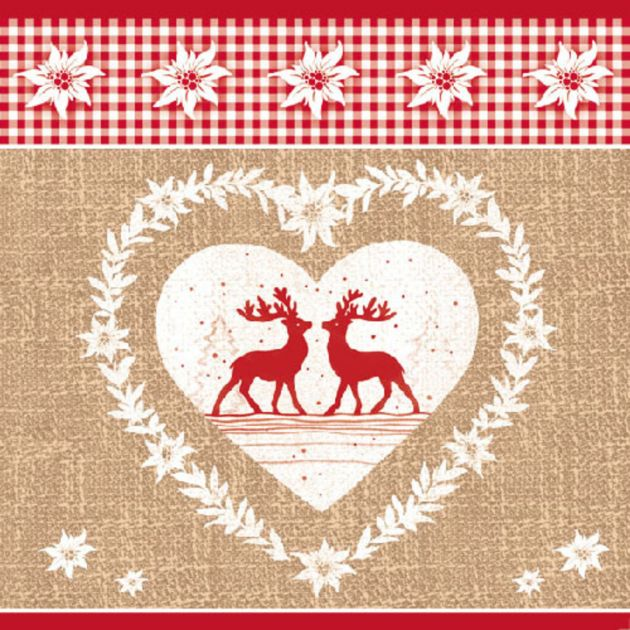 Napkin 33 Deer Love Nature