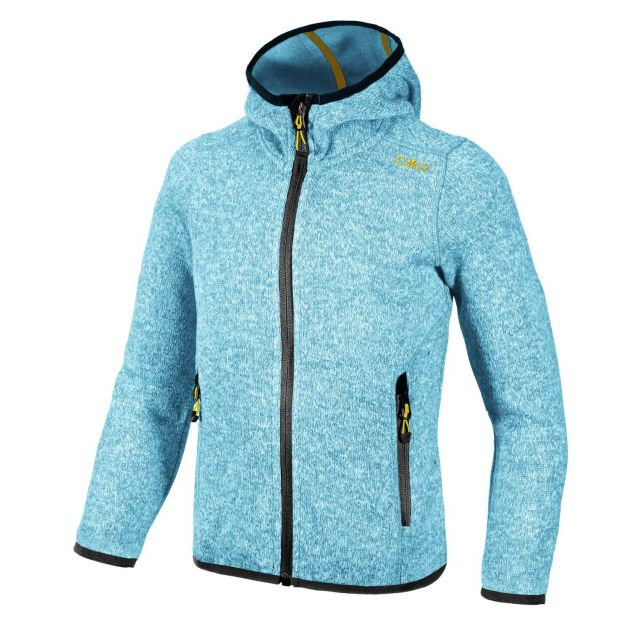 GIRL FLEECE JACKET FIX HOOD