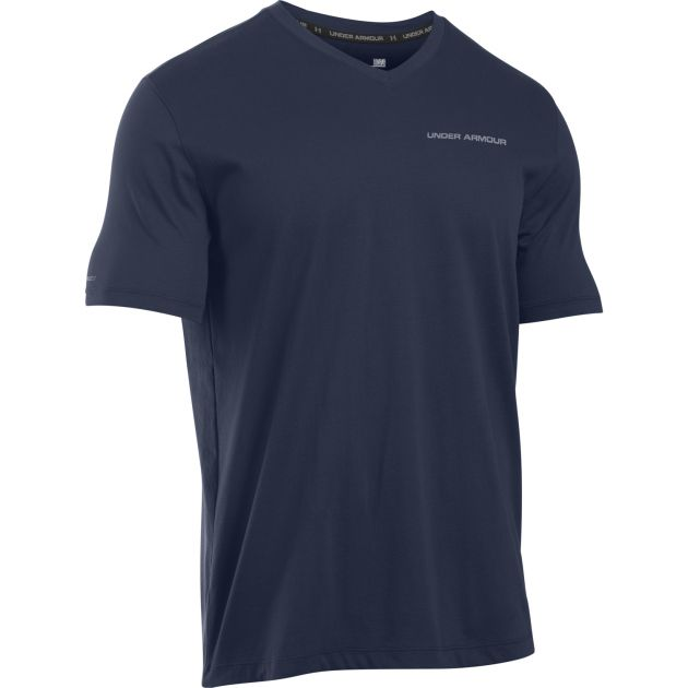 UA Charged Cotton Microthread V-Neck Tee