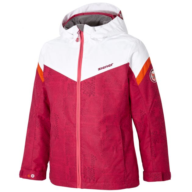 Ziener AMATIE jun (jacket ski) (Beere / 164) - Kinderbekleidung
